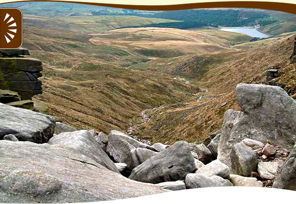 View from top of Kinder Downfall