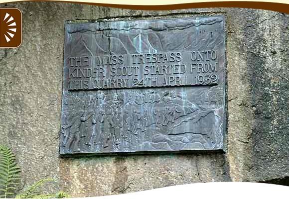 Mass Trespass onto Kinder Scout - plaque Hayfield
